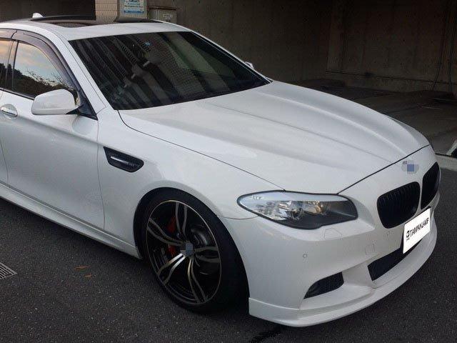 《※台灣之光※》全新BMW F10 F11 M5樣式葉子板含LED鯊魚鰭外銷精品台製鋁合金非FRP可比