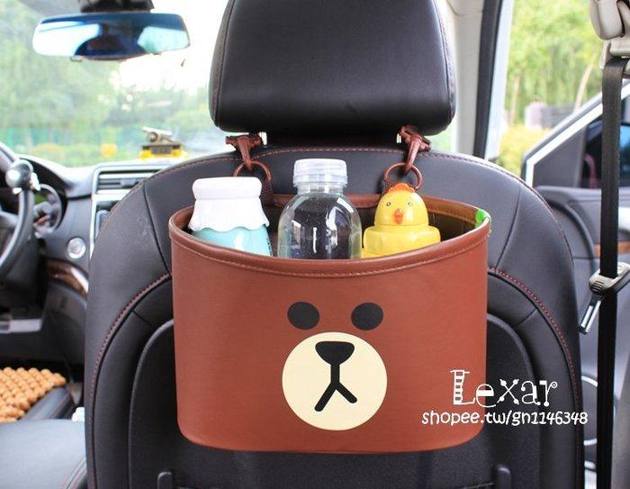卡通可愛汽車椅背收納袋掛袋車用置物袋框多功能便攜式媽咪收納包