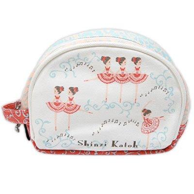 芭蕾小棧生日畢業表演禮物日本進口Shinzi Katoh加藤真治紅衣舞者音符化妝包髮飾工具袋