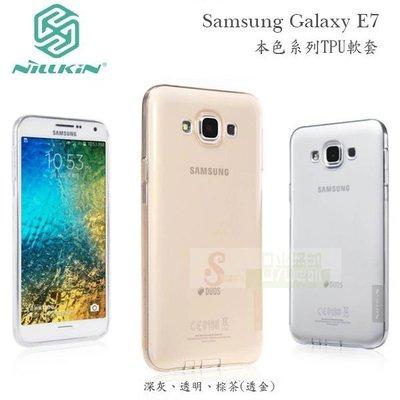 s日光通訊@NILLKIN原廠 Samsung Galaxy E7 本色系列TPU軟套 果凍套透色套 背蓋軟殼保護殼
