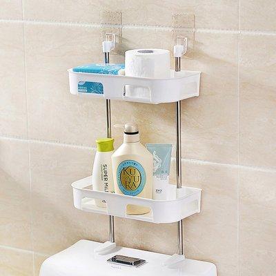 LoVus-免釘吸壁式可立分層衛浴廚房收納置物架- 三層