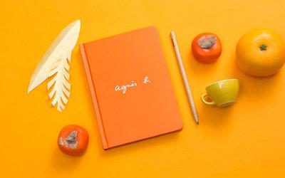 【限時下殺】全新現貨  ⭐️  agnes b.  筆記本 2021行事曆 記事本/年曆筆記本(橘色)