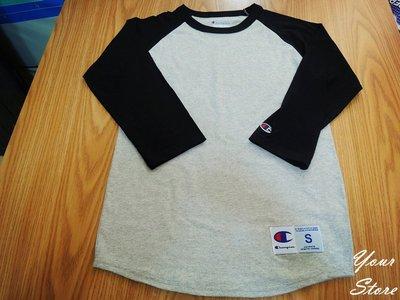 【Your Store】美牌 Champion 3/4 Raglan Baseball 七分袖 4色 出清 下殺45折