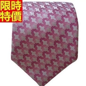 領帶 桑蠶絲男配件-韓版奢華十字紋流行手打領帶66ae41[獨家進口][米蘭精品]