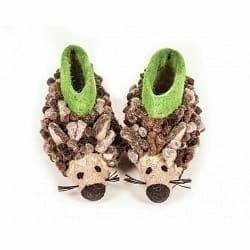 英國sew heart felt放牧小羊羊毛氈鞋 -赫比刺蝟 4~5歲 ,17cm
