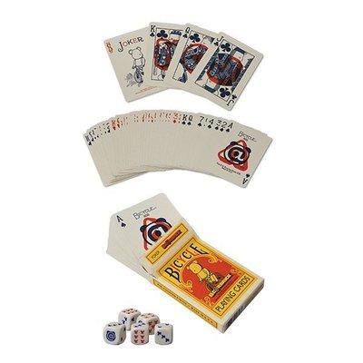 ☆AirRoom☆【現貨】BE@RBRICK BICYCLE POKER SET 撲克牌 一組 含骰子 庫柏力克