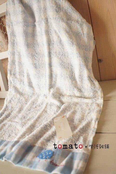 ˙TOMATO生活雜鋪˙日本進口雜貨日本製棉羊造型純棉雙色格紋毛巾