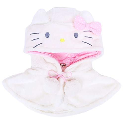 X射線【C935712】Hello Kitty 造型短斗篷,圍巾/披肩/卡通圍巾/毛帽/圍巾組/披風