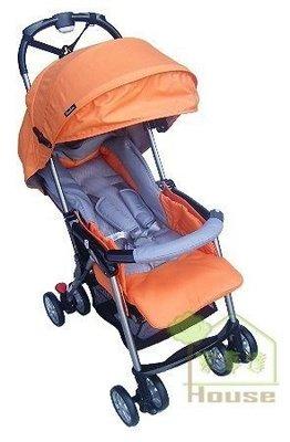 [ 家事達 ]Mother's love- 輕量輕便雙向秒縮嬰兒手推車5.6KG-橘色~可單手收合 特價