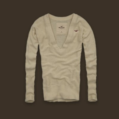 【美衣大鋪】☆ Hollister Co. 正品☆Seaside Reef  V領毛衣 ~HCO