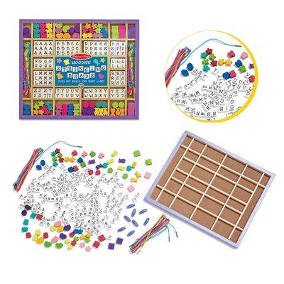 【晴晴百寶盒】美國進口穿線字母組 Melissa&Doug扮演角系列手眼協調生日禮物家家酒 益智遊戲玩具W681
