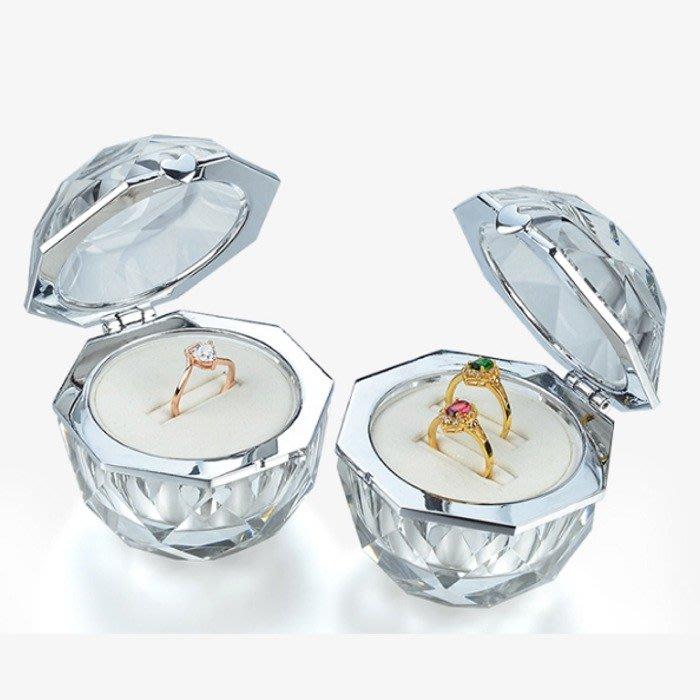 5Cgo【鴿樓】首飾盒飾品盒水晶玻璃戒指盒單戒對戒盒求婚禮交換戒指禮盒戒指盒鑽戒禮盒絨內里收納盒544560259850