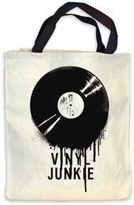 環保袋 包包  VINYL  黑膠 JUNKIE     TOTE BAG 全新 oasis The Beatles黑膠