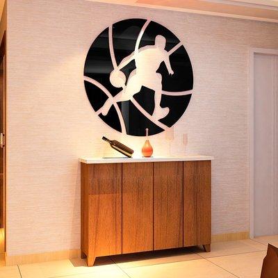 籃球水晶亞克力3d立體墻貼畫體育宿舍運動室寢室臥室背景墻裝飾品
