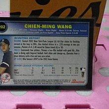 棒球天地----紐約洋基 國民 藍鳥 王建民 2003 簽名球員卡.字跡漂亮超稀少