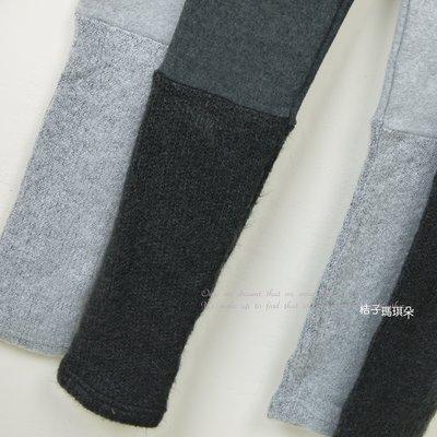 正韓 韓國連線 褲管口拼接毛襪 超彈性內搭褲 ~桔子瑪琪朵~ 舒服厚棉料