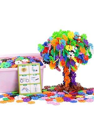 積木城堡 迷你廚房 早教益智兒童雪花片大號拼裝拼插益智力男孩女孩寶寶幼兒2-3-4歲積木玩具