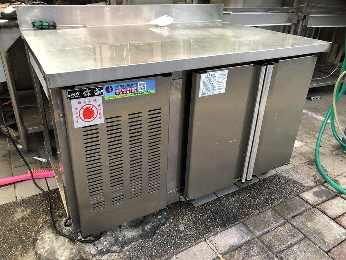 *大銓冷凍餐飲設備*【展示機】冷凍雙門4尺工作台冰箱/台灣生產