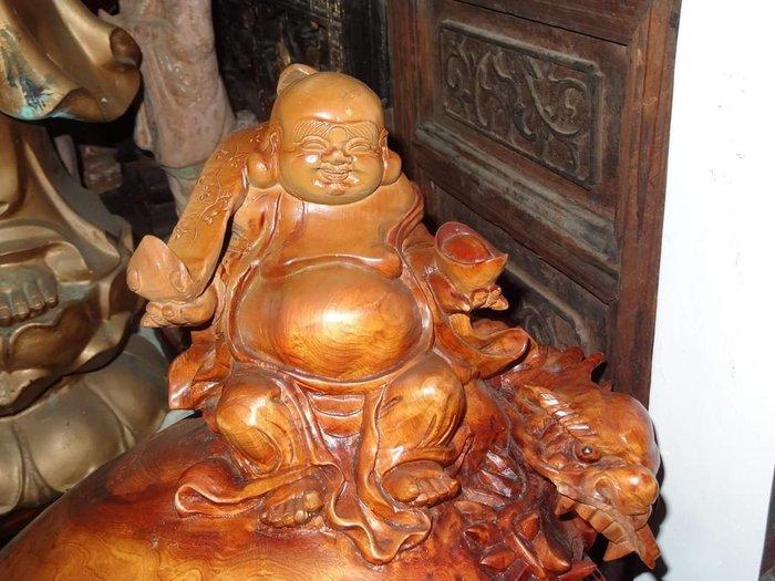 【御寶閣Viboger】古董 文物 藝品 字畫 化石~福杉瘤 福州 杉木 樹瘤 彌勒佛 龍龜