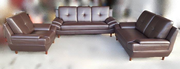 全新庫存家具賣場 WQ330AHJ*全新艾爾思123皮沙發* 客廳桌椅 臥室家具 電視櫃 書櫃 鞋櫃