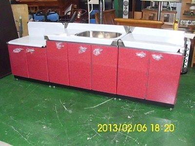 樂居二手家具 全新中古傢俱賣場 全新三件式不鏽鋼流理台 庫存貨 洗手台 瓦斯爐 工作台 洗手槽