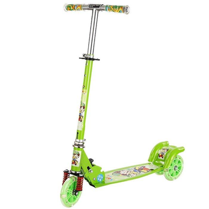 滑板車 兒童滑板車3歲三輪踏板車閃光2 6 8歲寶寶兩輪折疊單腳滑滑車
