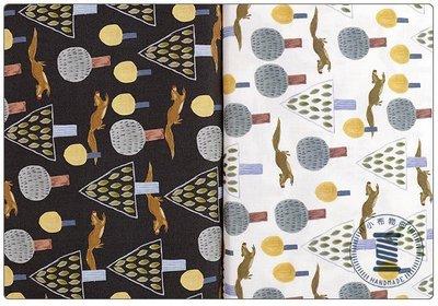 ✿小布物曲✿純棉 森林松鼠印花布 窄幅110CM 韓國進口布料質感優 共2色 單價