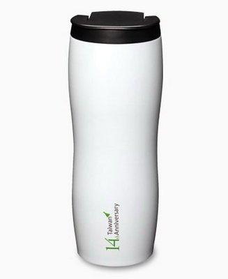 STARBUCKS 台灣 星巴克 2012 不鏽鋼隨行杯 星巴克14周年 白色不鏽鋼 隨行杯20oz  Venti 杯