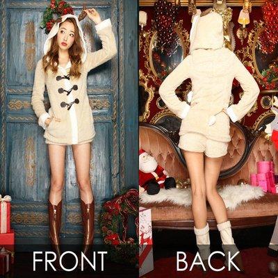 米白色長袖冬季裝扮圣誕套裝可愛麋鹿裝影樓拍攝寫真服裝X1238