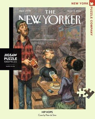 拼圖世家正版紐約客New Yorker拼圖2054 酒吧之夜 Hip Hops 1000片