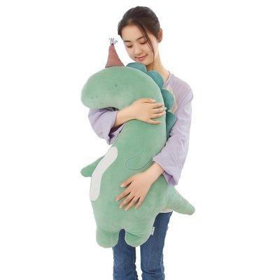 藍白玩偶懶人睡覺抱枕公仔可愛女孩娃娃恐龍毛絨玩具女生生日禮物