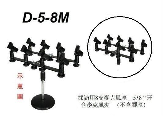 【六絃樂器】全新 Stander D-5-8M 採訪用 8支麥克風座 烤肉架 / 舞台音響設備 專業PA器材