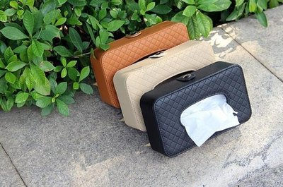 ZIHOPE 面紙盒汽車內飾用品車載車用紙巾盒 汽車創意遮陽板掛式天窗椅背抽紙盒ZI812