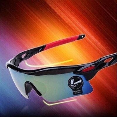 太陽鏡—戶外騎行夜視鏡太陽眼鏡潮男女式電動摩托車防風塵防爆炫彩墨鏡