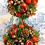 聖誕節大型盆栽擺飾:聖誕節 盆栽 擺飾  花卉 展示 會場 櫥窗 店面 居家 家飾 設計 收藏 禮品