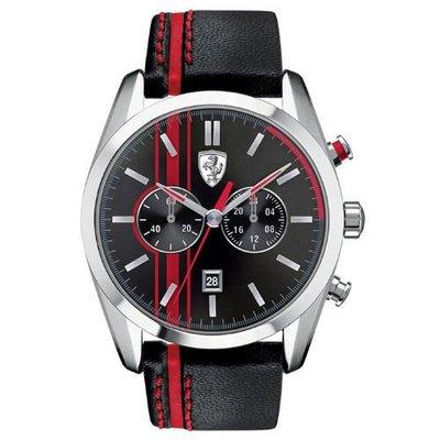 【emmas watch】法拉利 Scuderia Ferrar 沸騰競速計時皮帶運動錶/44mm/FA0830177