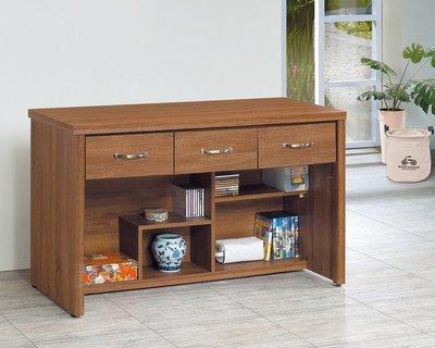 【浪漫滿屋家具】(Gp)556-5 柚木4尺三抽書桌