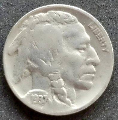美國   印地安    5分   1937    鎳幣  水牛  野牛     280-270