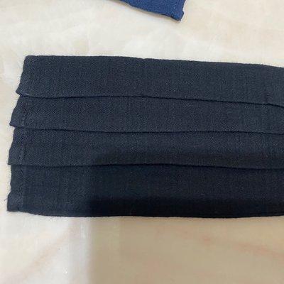 黑 素色 手作 口罩套 布口罩套 😷 二重紗口罩套成品