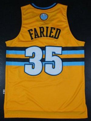 Denver Nuggets金塊隊35號Kenneth Faried 法裡德 半獸人 大雪山 籃球衣