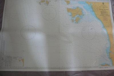 藍色小館46-1-DEPTHS IN METRES航海圖-KO TARUTAO TO PULAU PINANG