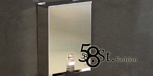 【58街】衛浴不銹鋼精品「不鏽鋼平板抽取衛生紙架、紙巾箱」。AZ-252