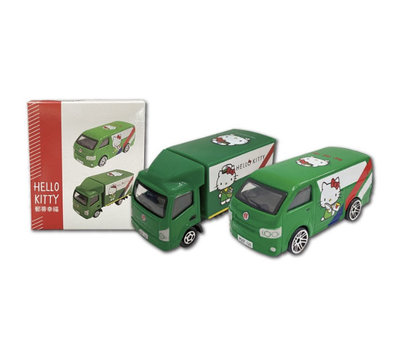 中華郵政xHello Kitty 造型小郵車 郵務卡車 郵政箱型車 Tomica合金車