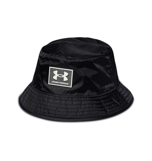 【G CORNER】Under Armour UA 雙面漁夫帽 帽子 穿搭 素面 黑 男女 1356713-590