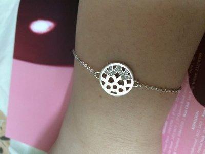 Links OF London 純銀手鍊 鑲鑽石 買一送一