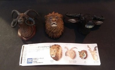 TAKARA 立體百科事典 Part.3 動物頭像 3種