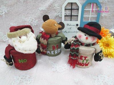 ☆[Hankaro]☆歐美創意聖誕布置道具聖誕造型圓型糖果禮物盒(樣品出清)
