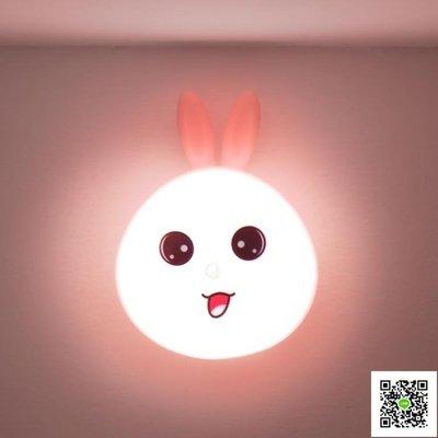 樓道led充電小夜燈節能家用衣櫃衛生間過道走廊光控聲控人體感應