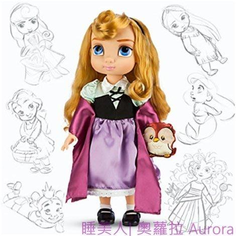 現貨【迪士尼 Disney】全新美國正品 手繪Q版娃娃 睡美人 奧羅拉 Aurora【高約40公分】