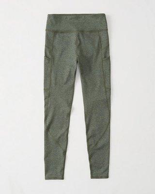 Maple麋鹿小舖 Abercrombie&Fitch * AF  灰綠色貼合身運動褲 * ( 現貨M號 )